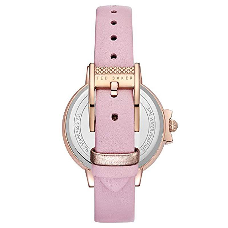 f948e4b09 Ted Baker - Multicolor  ruth  Quartz Stainless Steel And Leather Casual  Watch