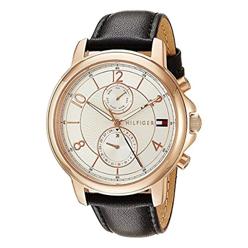 16a8348b Tommy Hilfiger. Women's Metallic 'sophisticated Sport' Quartz Gold And  Leather Casual Watch ...