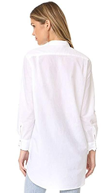 dc3a4612339670 Lyst - M.i.h Jeans Oversize Button Up Shirt in White