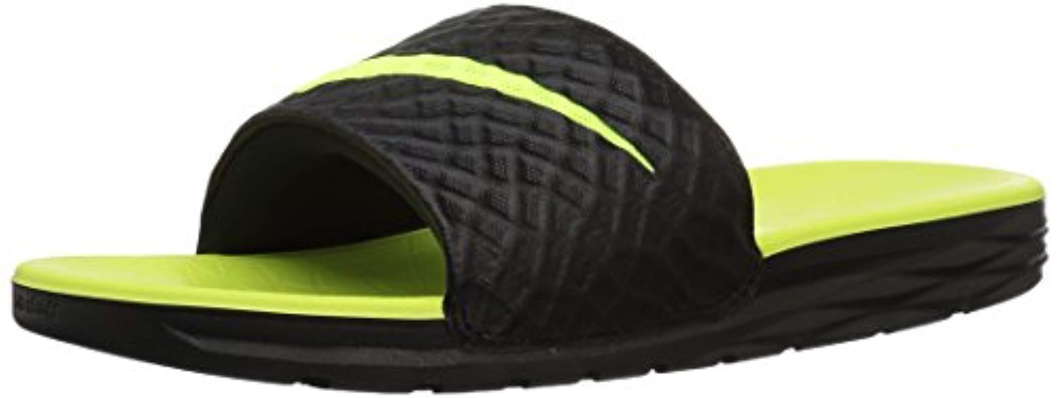 fec62af2bff9 Nike Benassi Solarsoft Beach   Pool Shoes Black in Black for Men ...