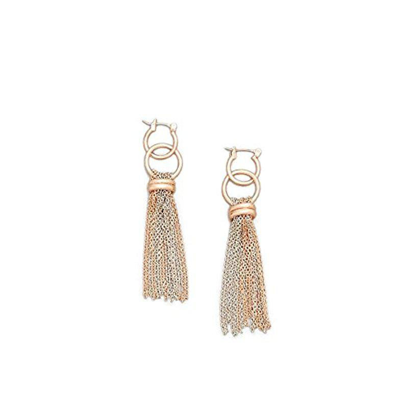 Rose Gold-Tone Two-Tone Drop Earring Kenneth Cole HYTbA4IM