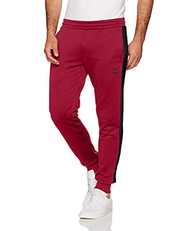 6aaa3fc1e98b Lyst - PUMA Archive T7 Track Pants in Red for Men