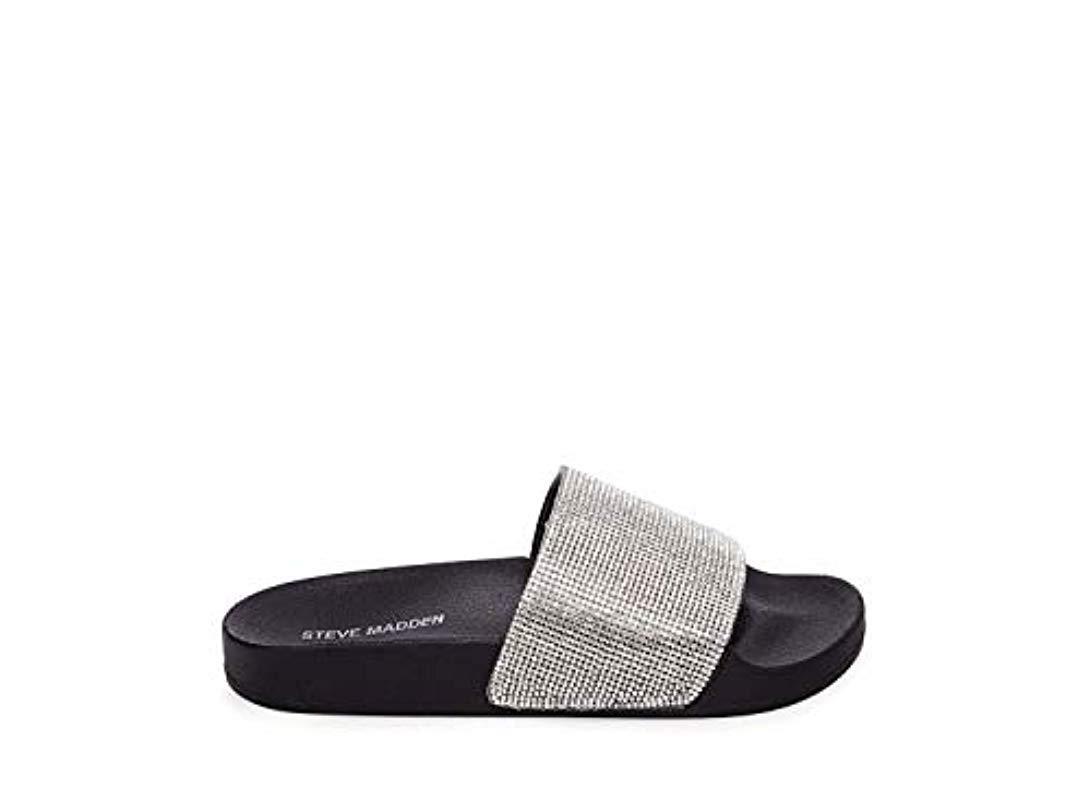 20340302a24 Lyst - Steve Madden Fancy Sandal in Black