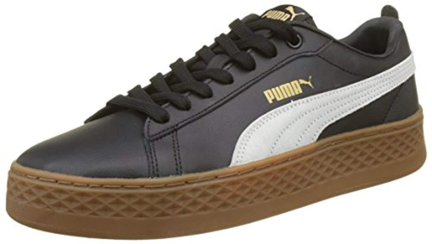 940eb33a758 PUMA Smash Platform L Low-top Sneakers in Black - Lyst