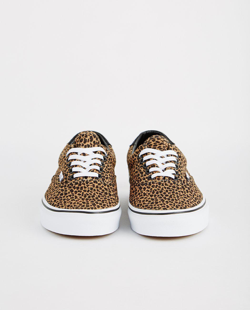 vans beige & brown era 59 mini leopard trainers