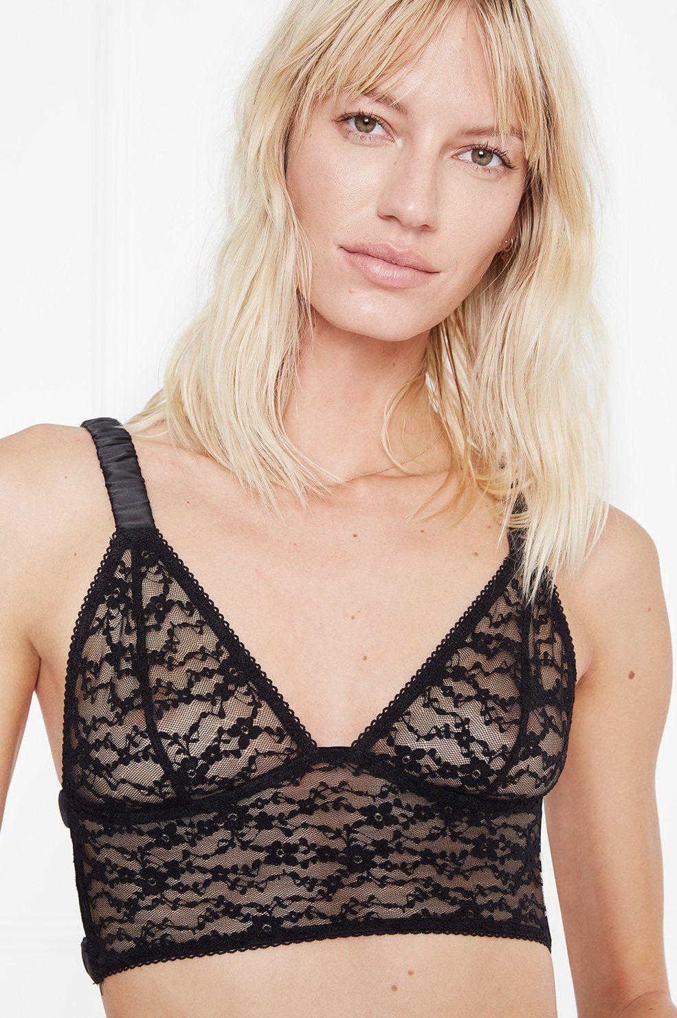 65a08ffb3c Lyst - Anine Bing Daniella Bralette in Black