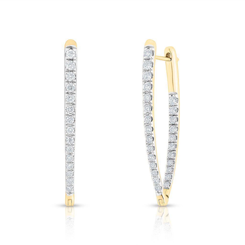 anne sisteron 14kt yellow gold diamond luxe drop wishbone