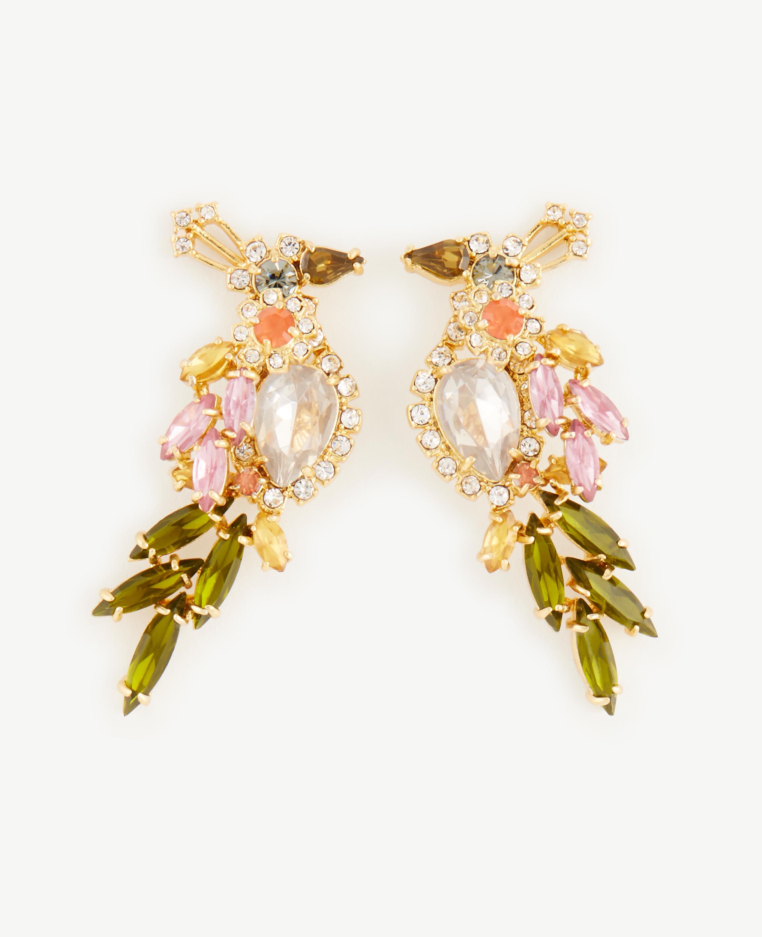 Lyst Ann Taylor Birds Of Paradise Earrings In Metallic