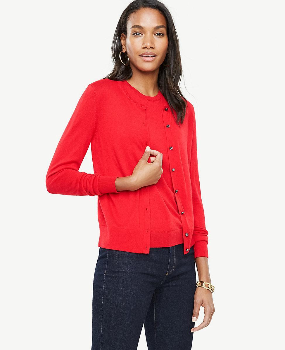 Ann taylor ann shell in red lyst for Ann taylor loft fashion island