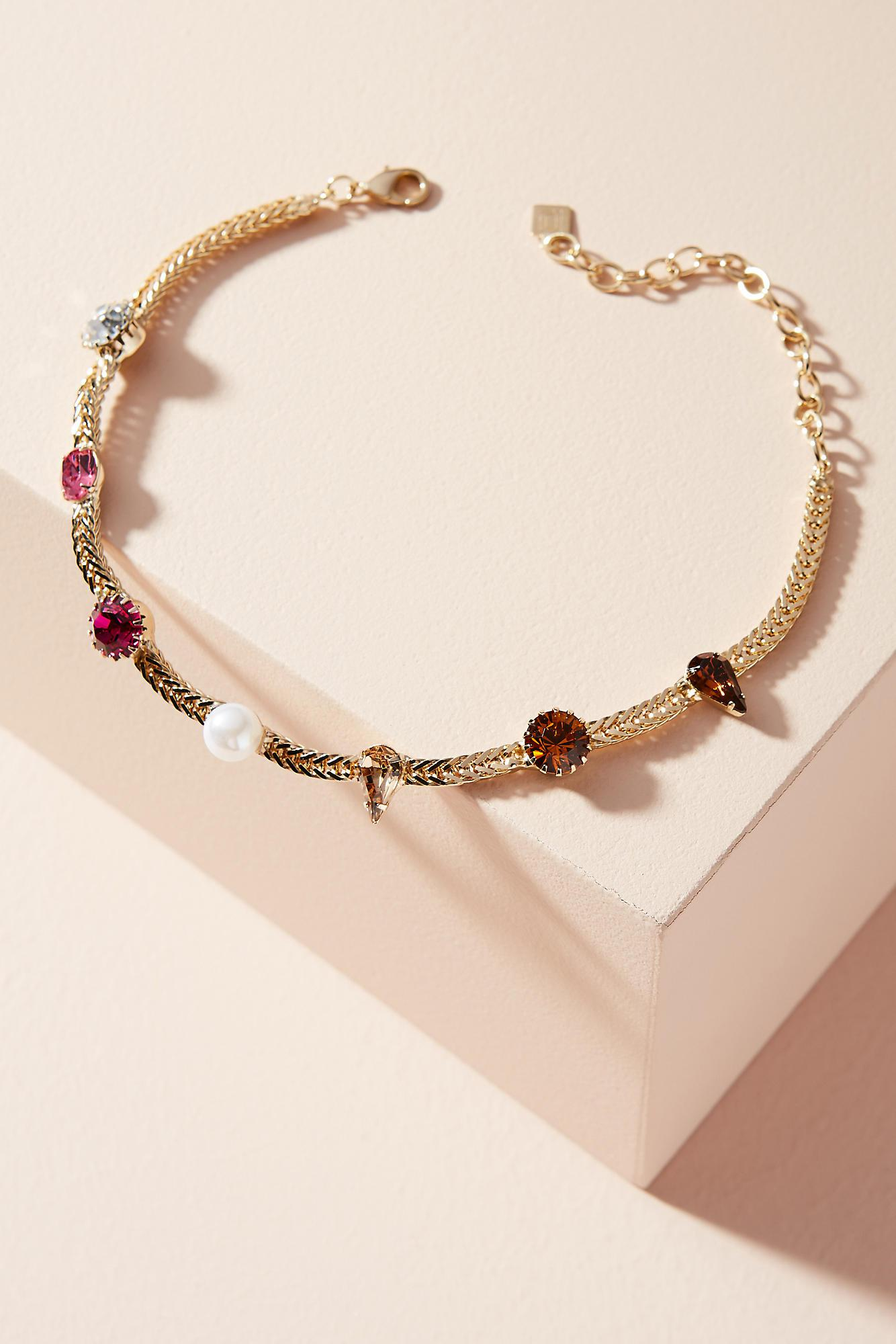 Dannijo Draven jewel embellished choker w0dhDH6iMa