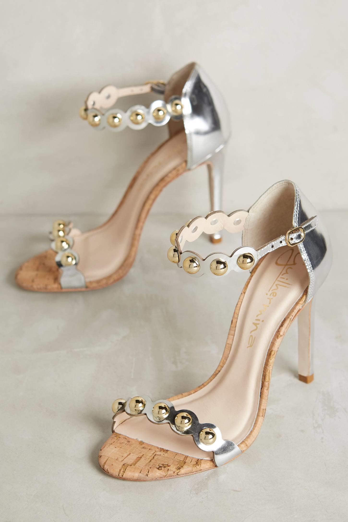 a2ce7cb8868 Lyst - Guilhermina Valentina Heels in Metallic