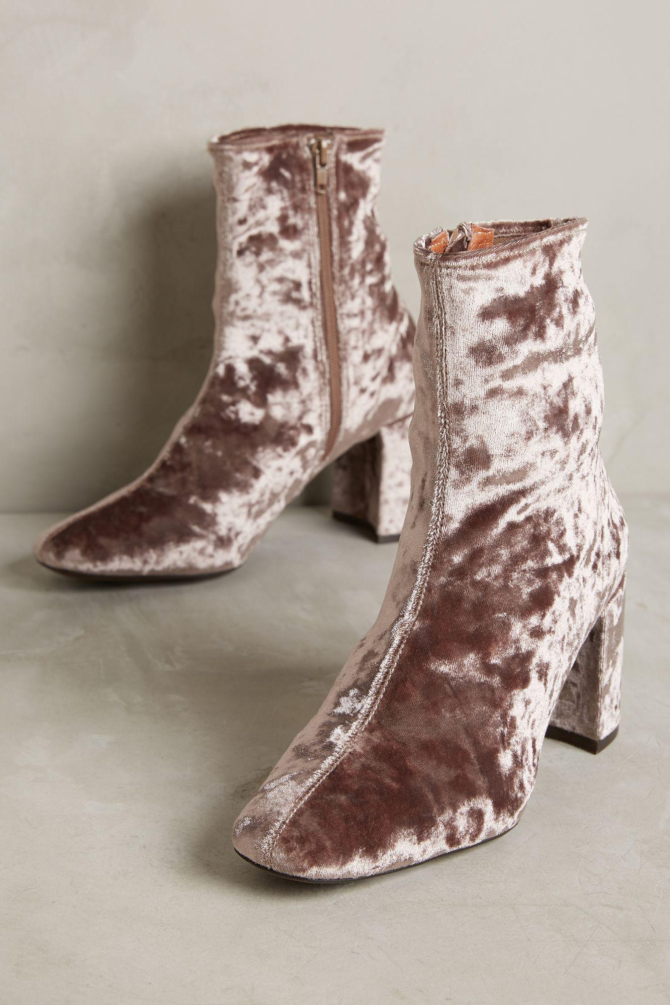 Jeffrey Campbell Cienega Velvet Ankle Boots Lyst