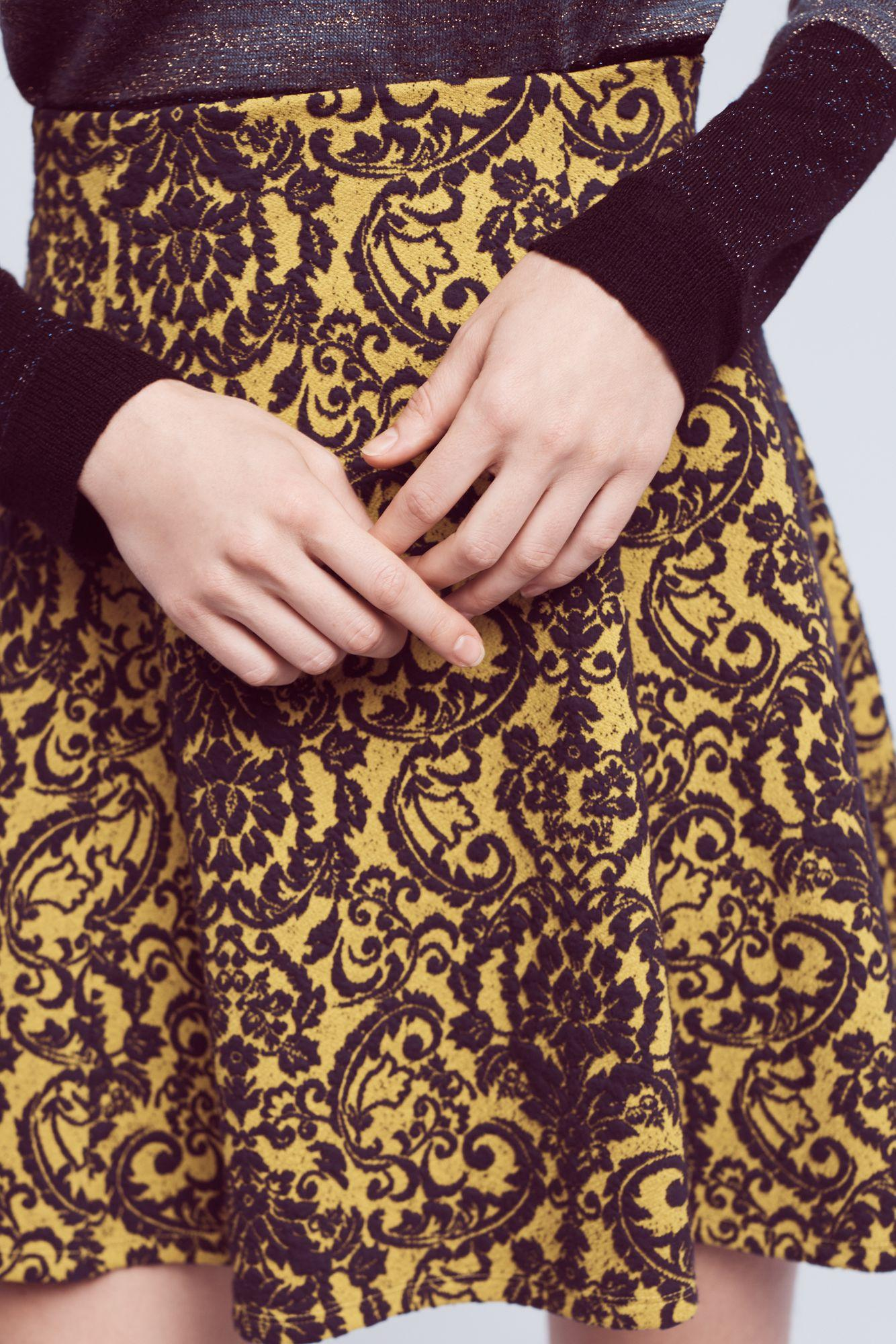Maeve eliza knit circle skirt in brown lyst gallery bankloansurffo Image collections