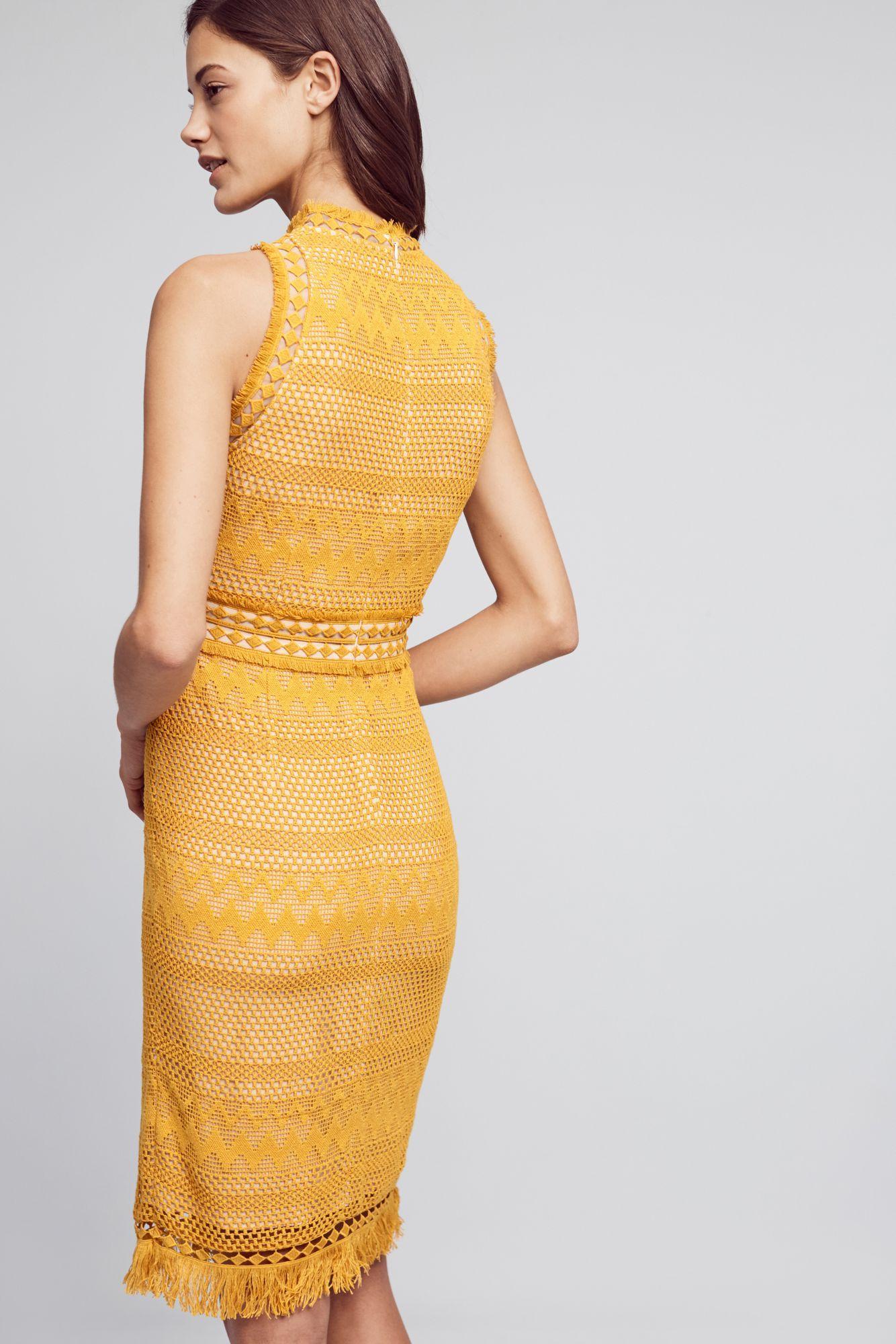 Shoshanna yellow dress