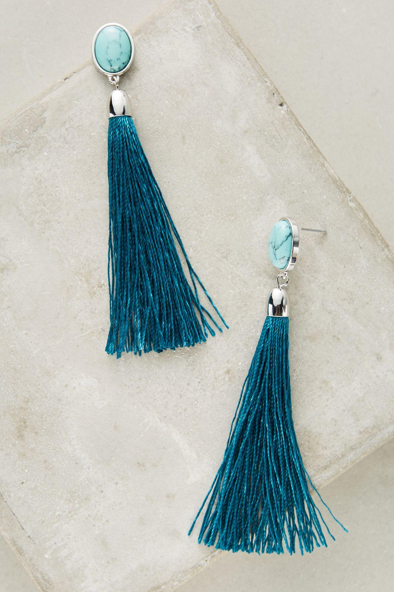 Jardin margot tassel earrings in blue lyst for Jardin jewelry
