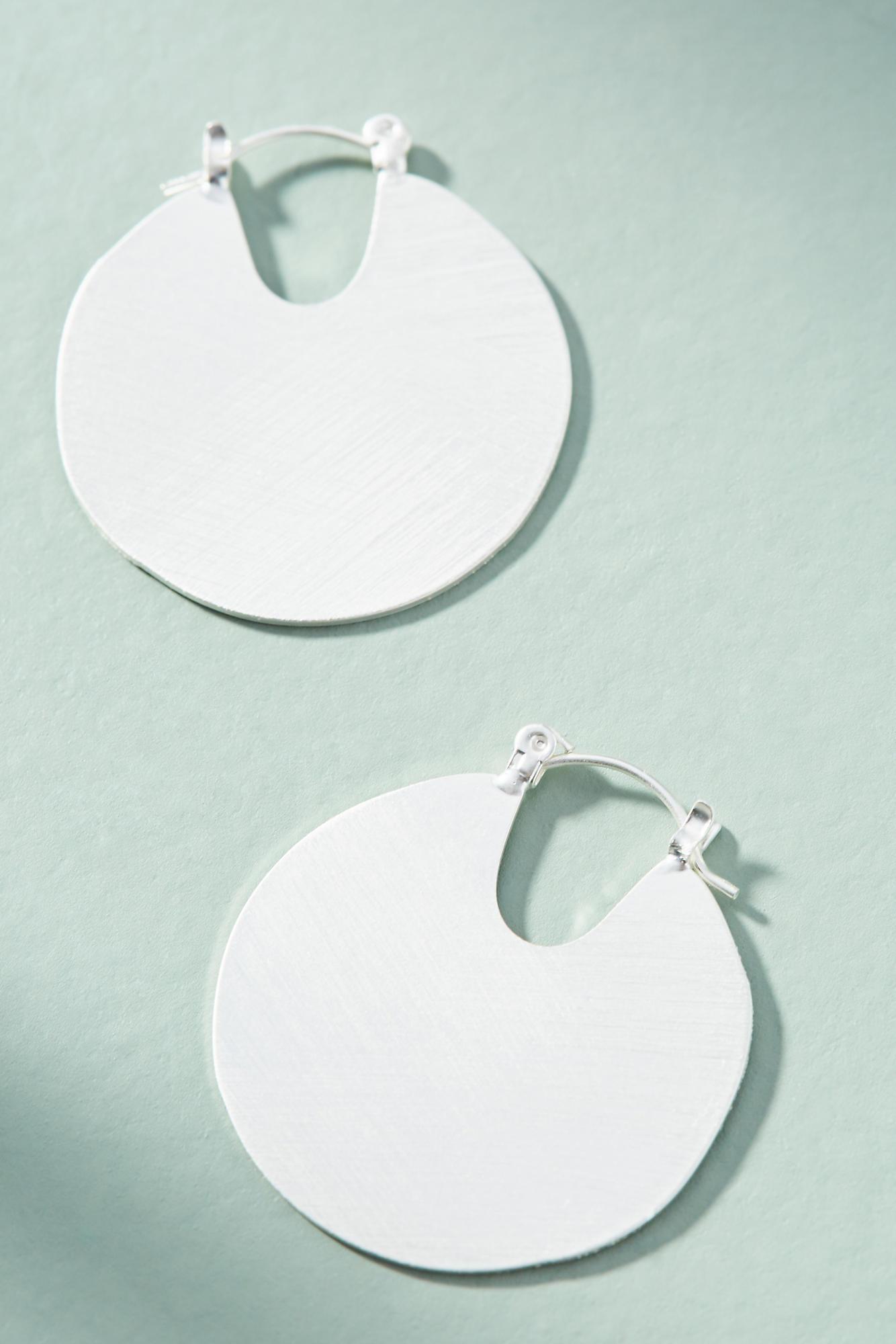 Anthropologie Mini Filled Hoop Earrings HfntU