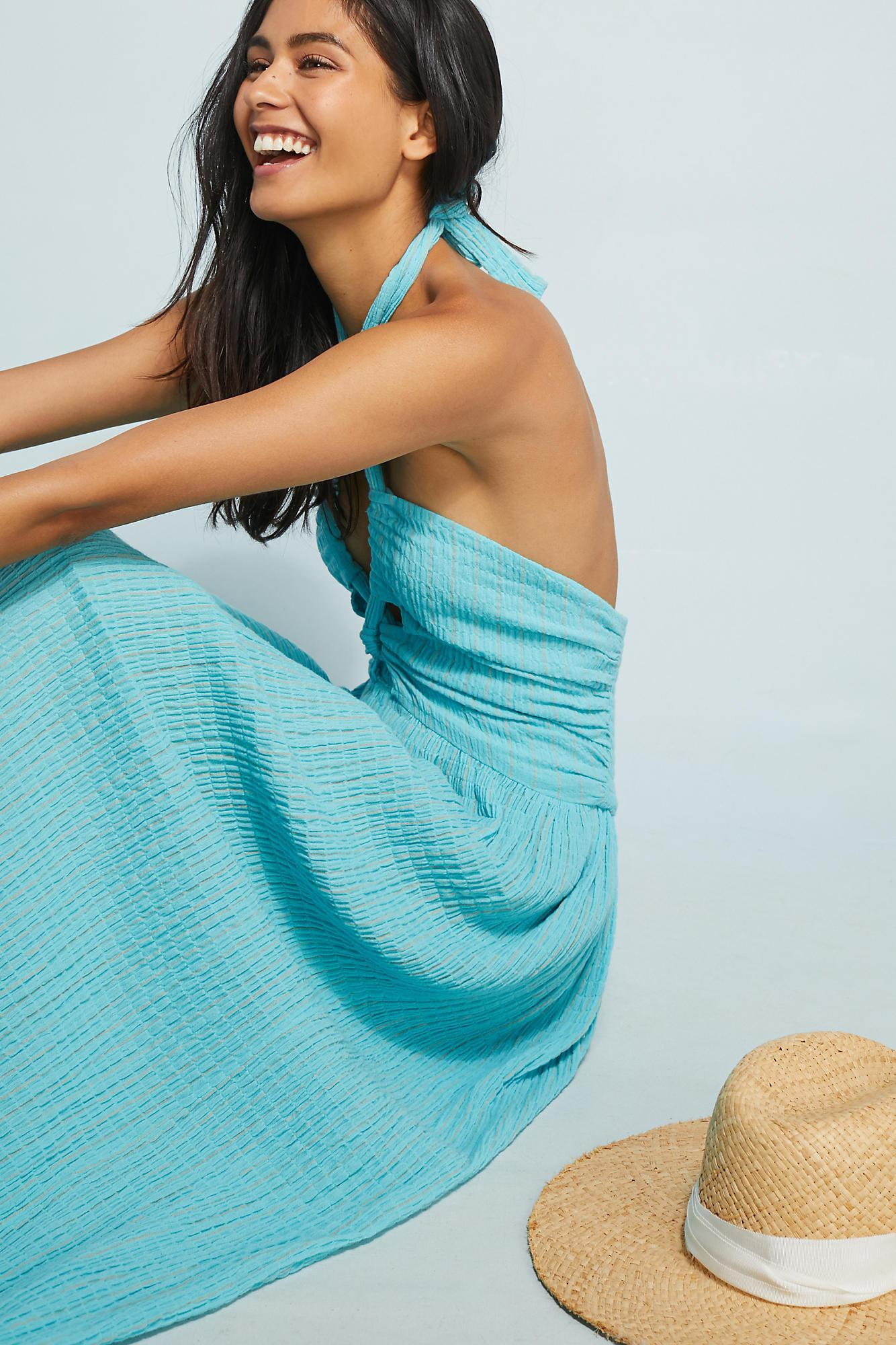 5a52729cdc Lyst - Mara Hoffman Cover-up Halter Dress in Blue