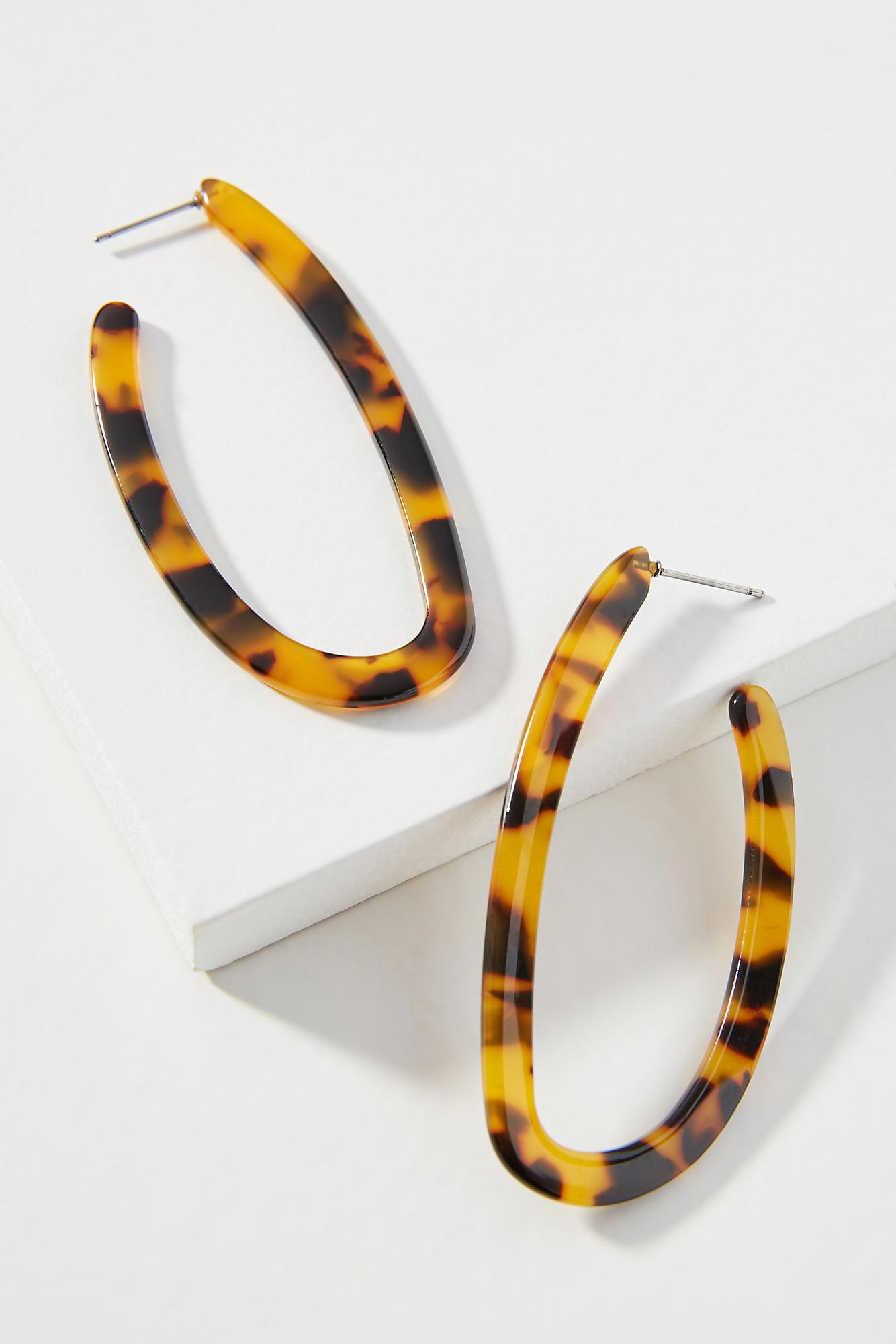 Amber Sceats Lynx Resin Hoop Earrings yemwR1