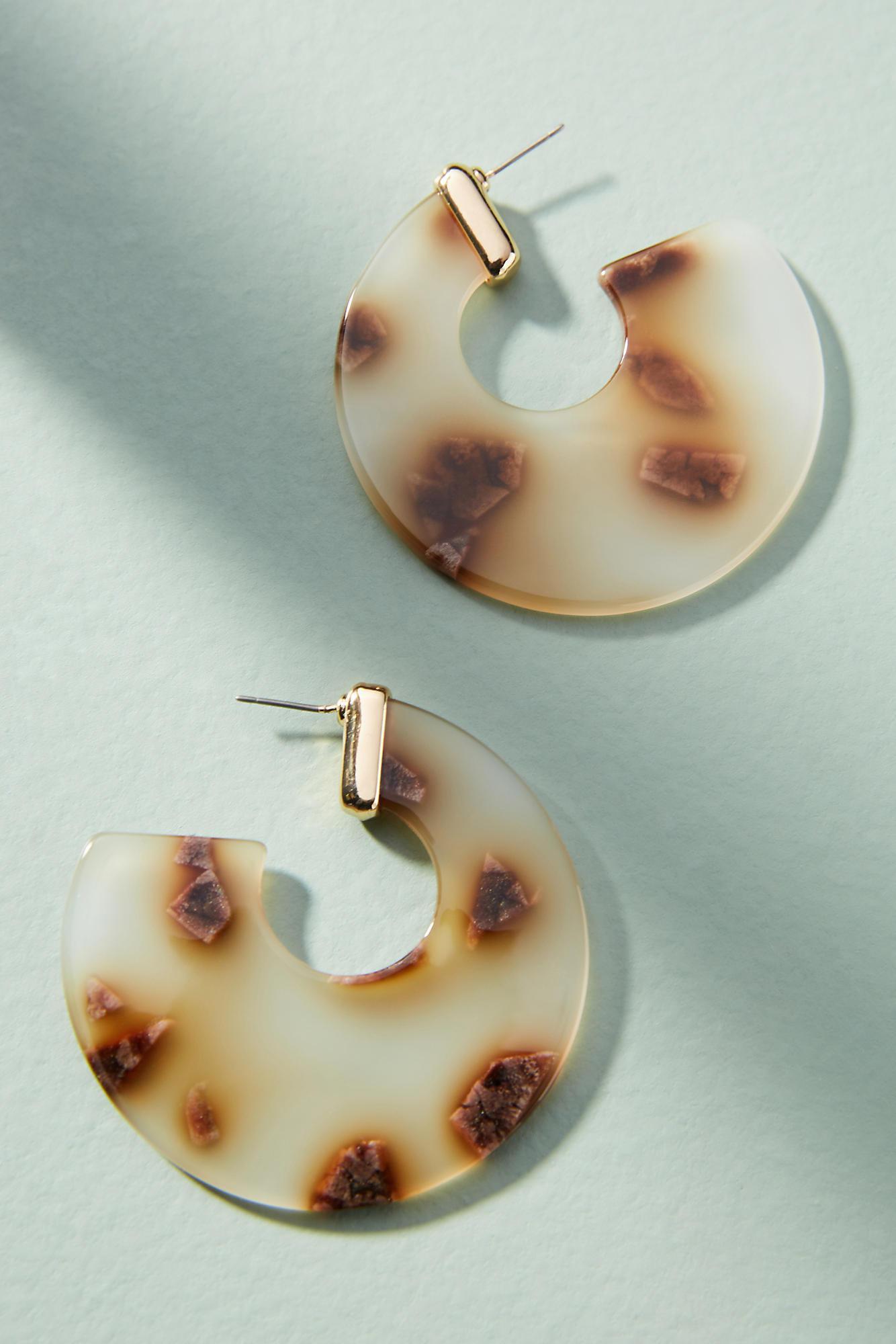 Amber Sceats Mali Resin Hoop Earrings R9iKgA5A3