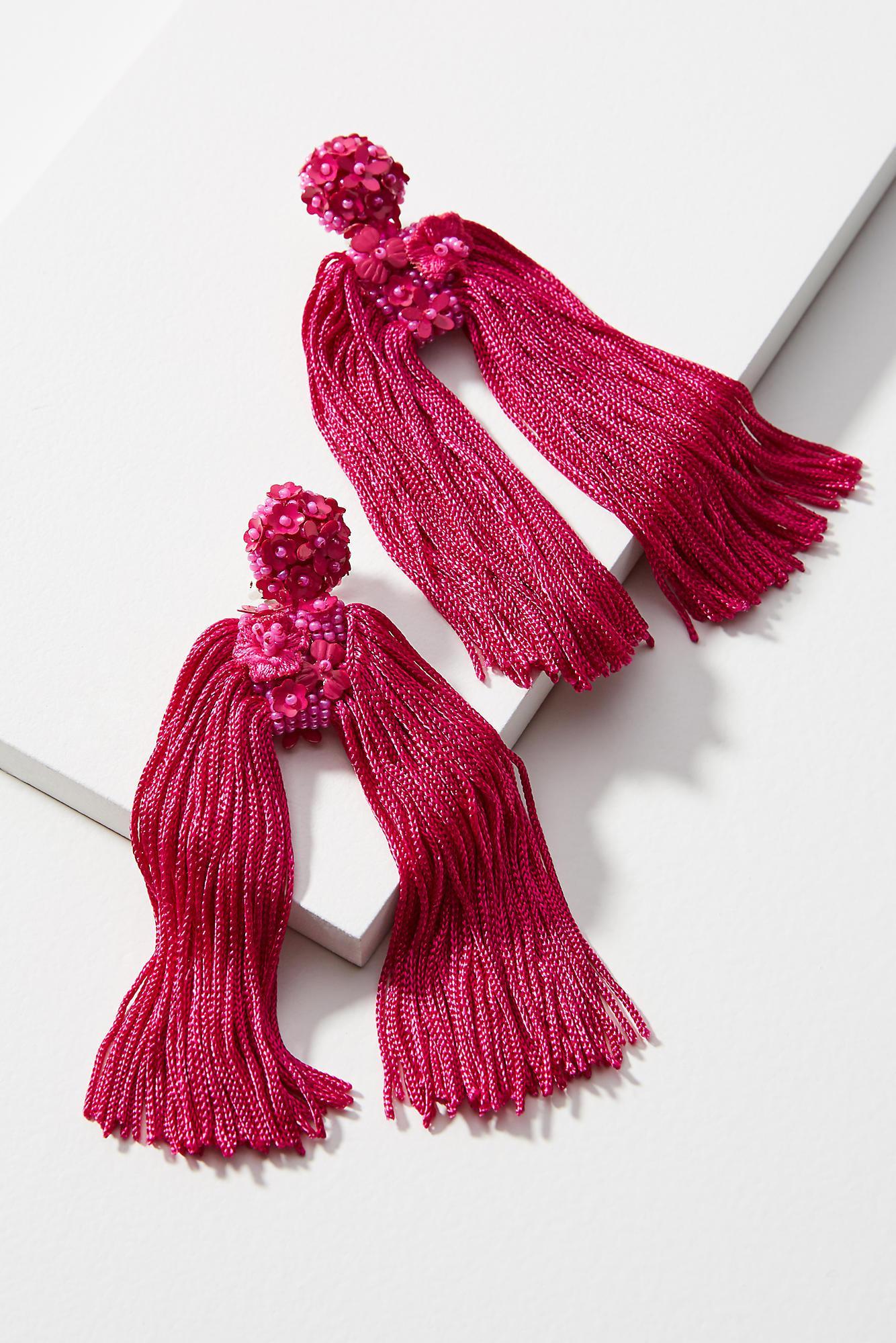 Sachin & Babi Fleur Round Silk Drop Earrings or7q0rj