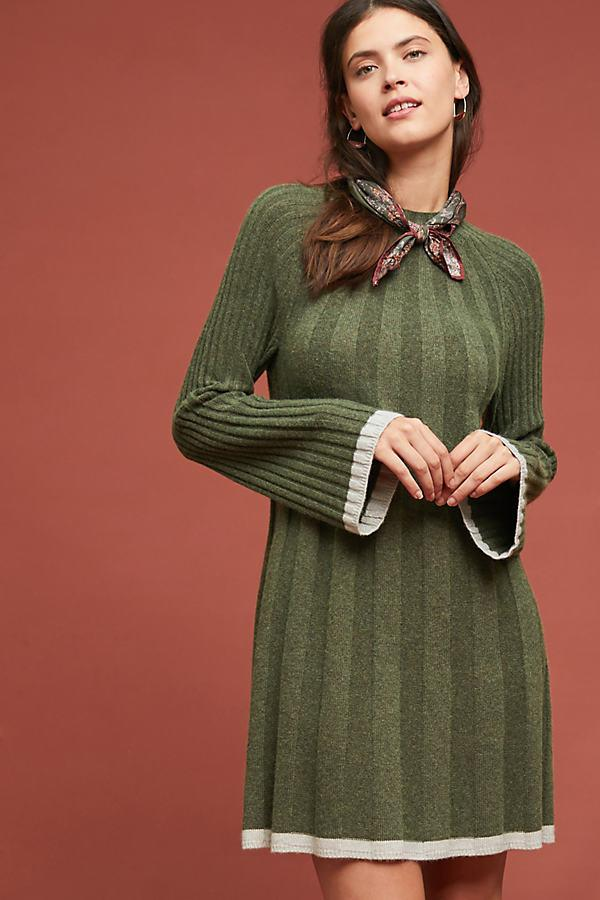 db965253ef6 Anthropologie Ribbed Sweater Dress in Green - Lyst