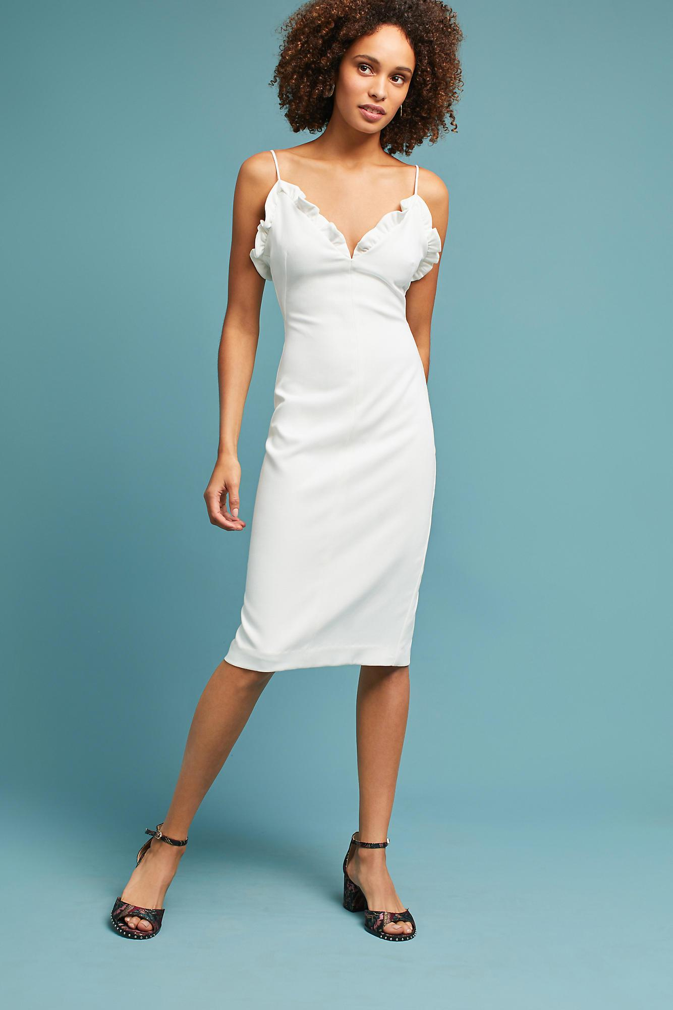 Lyst - Black Halo Cate Column Dress in White