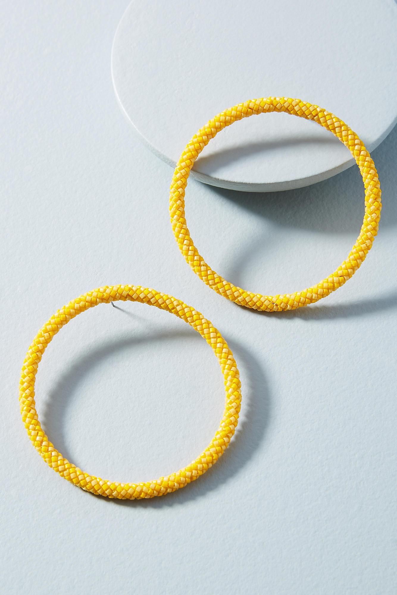 Mishky Hula Hoop Post Earrings No9C5E7U4