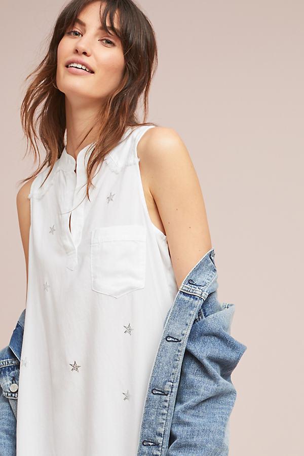 8a597c7a0e Cloth   Stone Maroney Shirtdress in White - Lyst