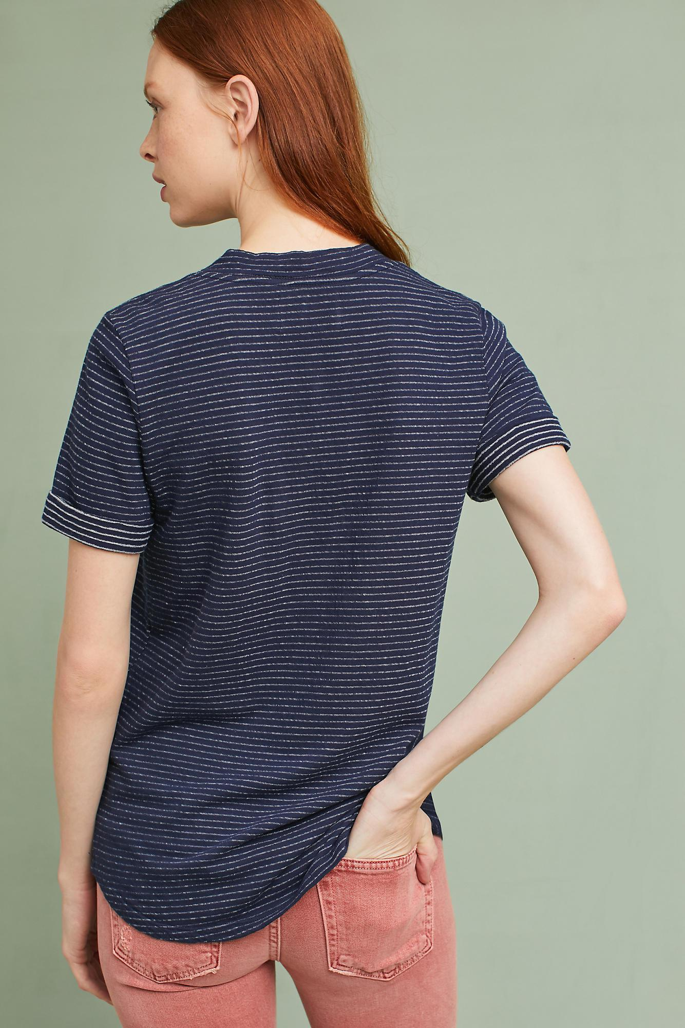 1cbd0be15 Sol Angeles Rolled-cuff Graphic Tee in Blue - Lyst