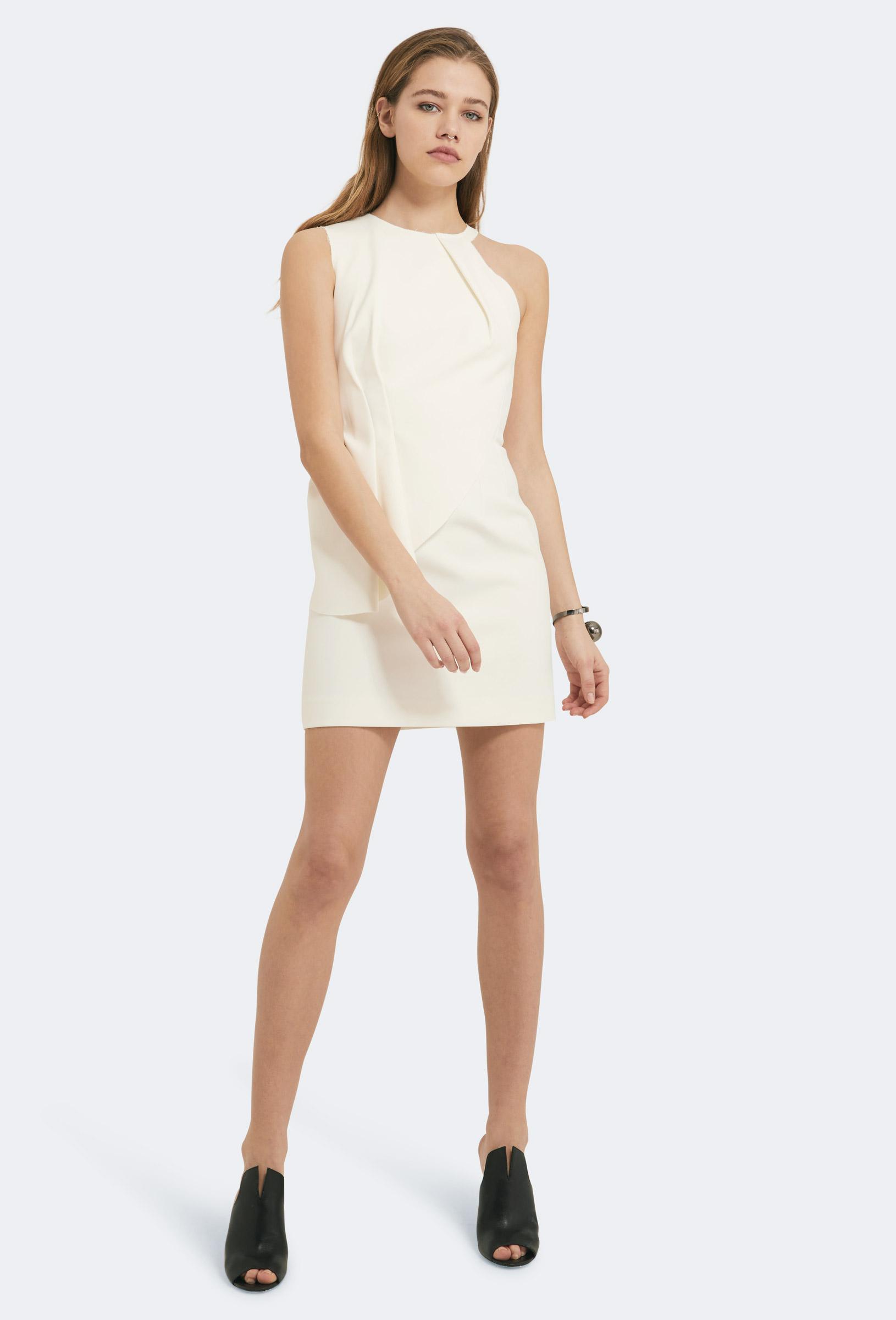 04d7c05a70 AQ/AQ Quinto Peplum Mini Dress Cream White in White - Lyst