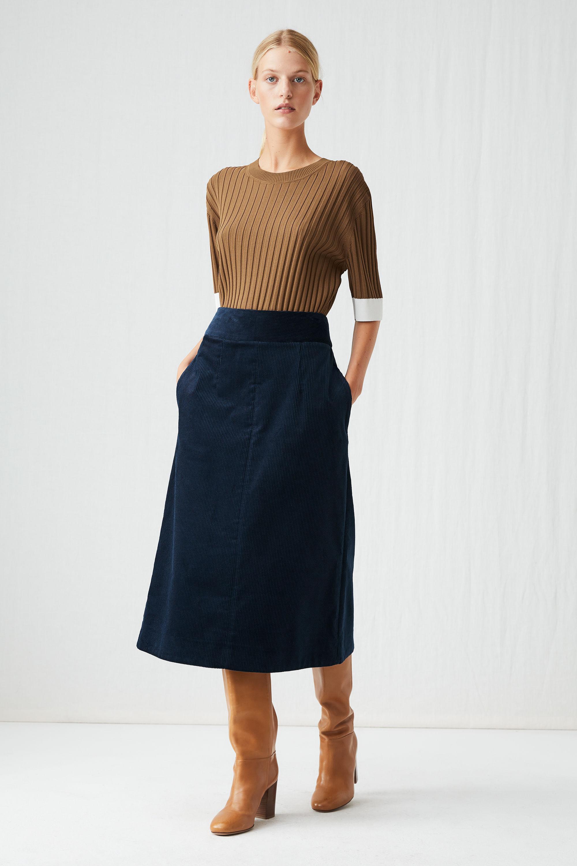 589b34484cd36 ARKET Corduroy A-line Skirt in Blue - Lyst