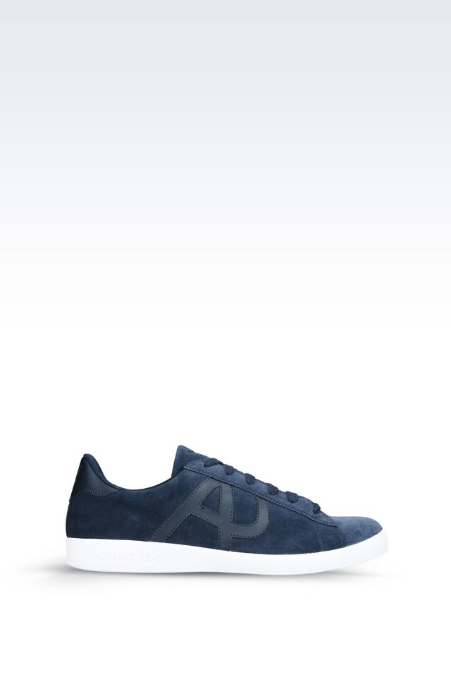 armani jeans sneaker in blue for men save 5 lyst. Black Bedroom Furniture Sets. Home Design Ideas
