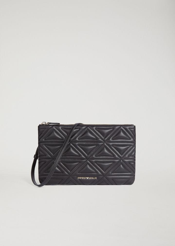 d8e95868e4 Lyst - Emporio Armani Clutch Bag in Black