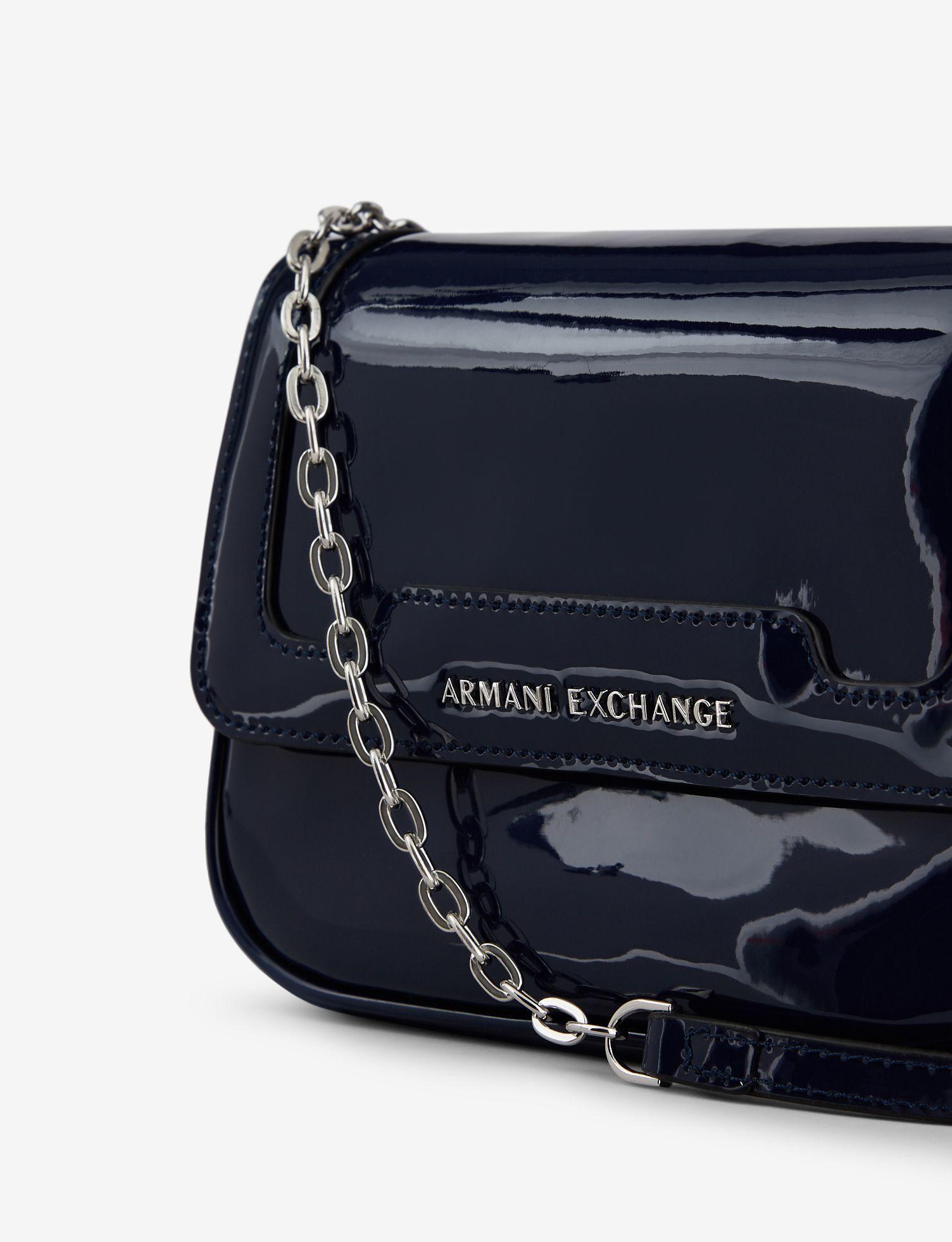 9d1b9d06288 Armani Exchange - Blue Bag With Chain Strap - Lyst. View fullscreen