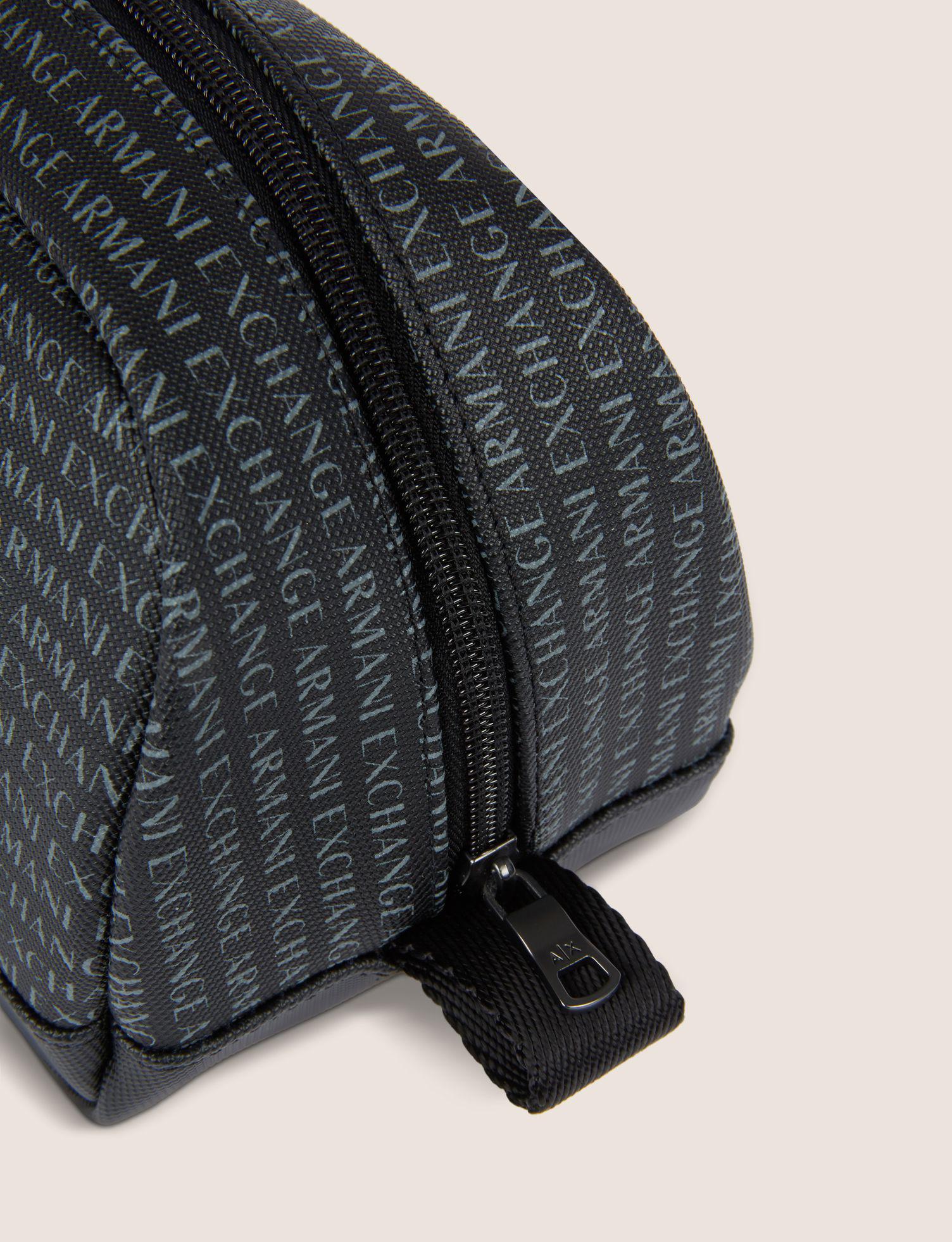e618a498d8b Lyst - Armani Exchange Allover Logo Dopp Kit in Black for Men