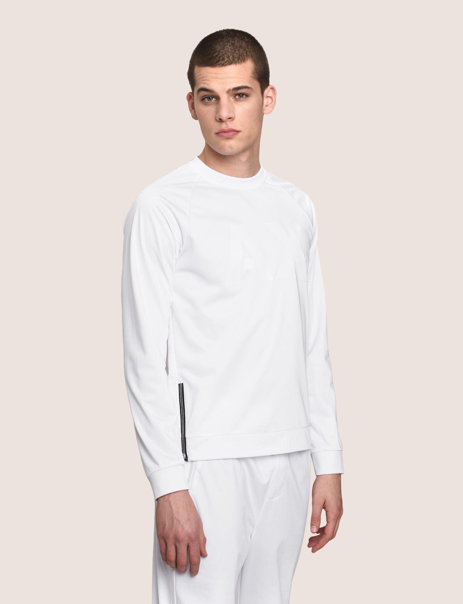 5157012169765 Lyst - Armani Exchange Tonal Logo Zip Sweatshirt in White for Men