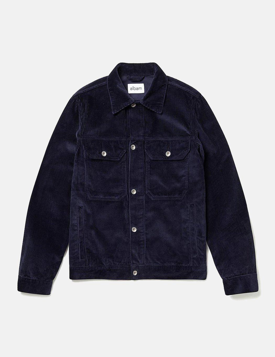 Albam Cord Utility Jacket In Blue For Men Lyst