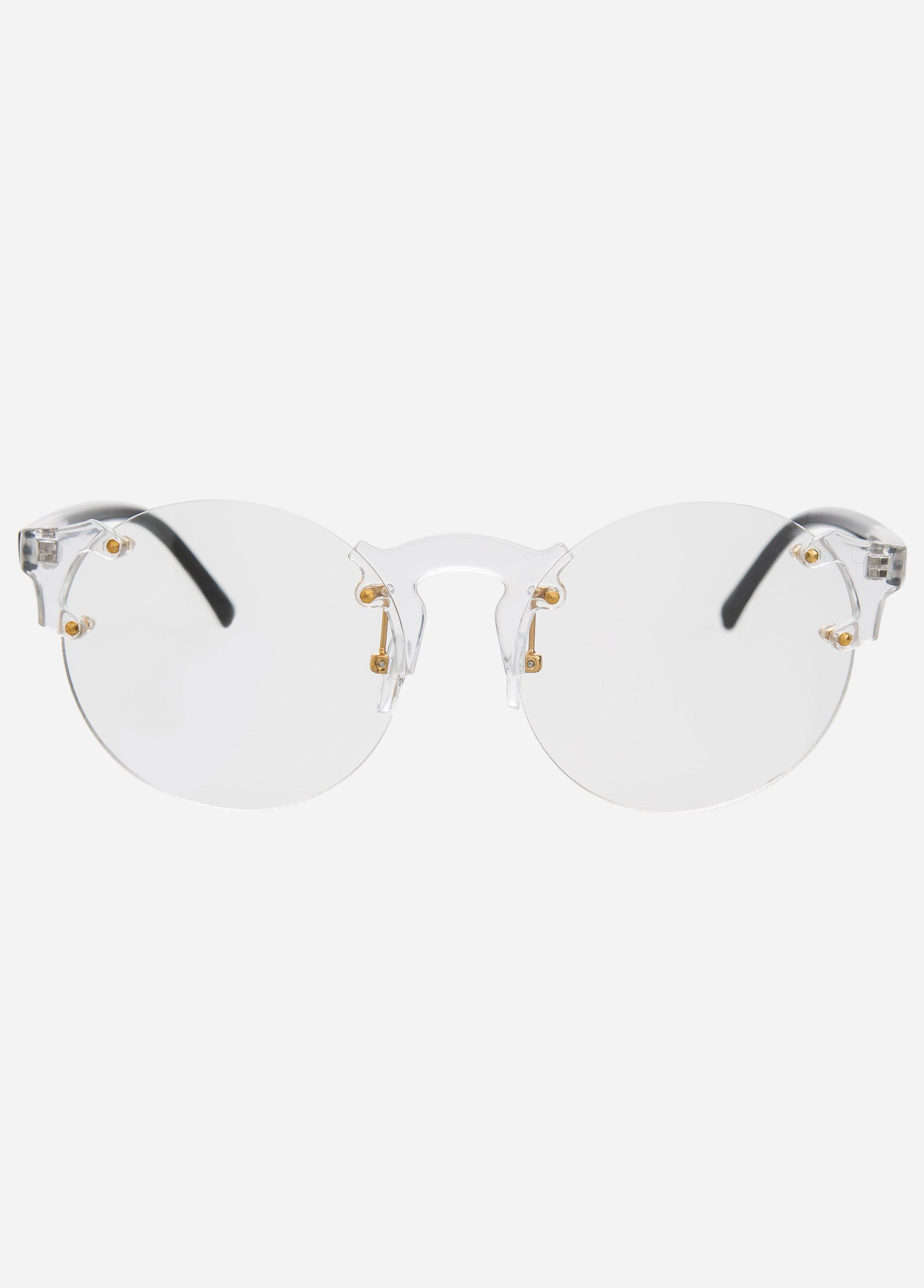 Lyst - Ashley Stewart Plastic Frame Clear Sunglasses in Gray