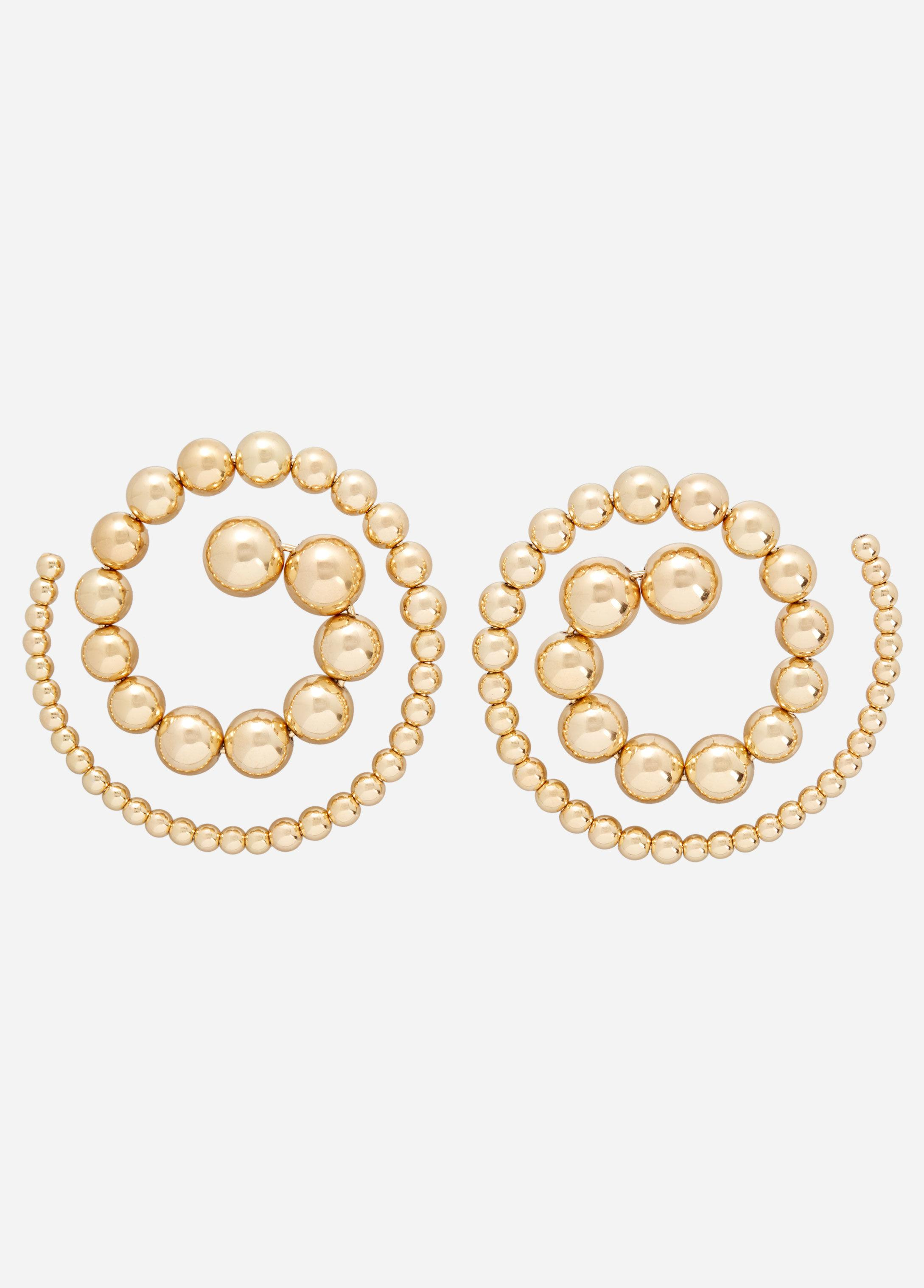 Ashley Stewart Gold Studded Swirl Earrings zv4cZg2c