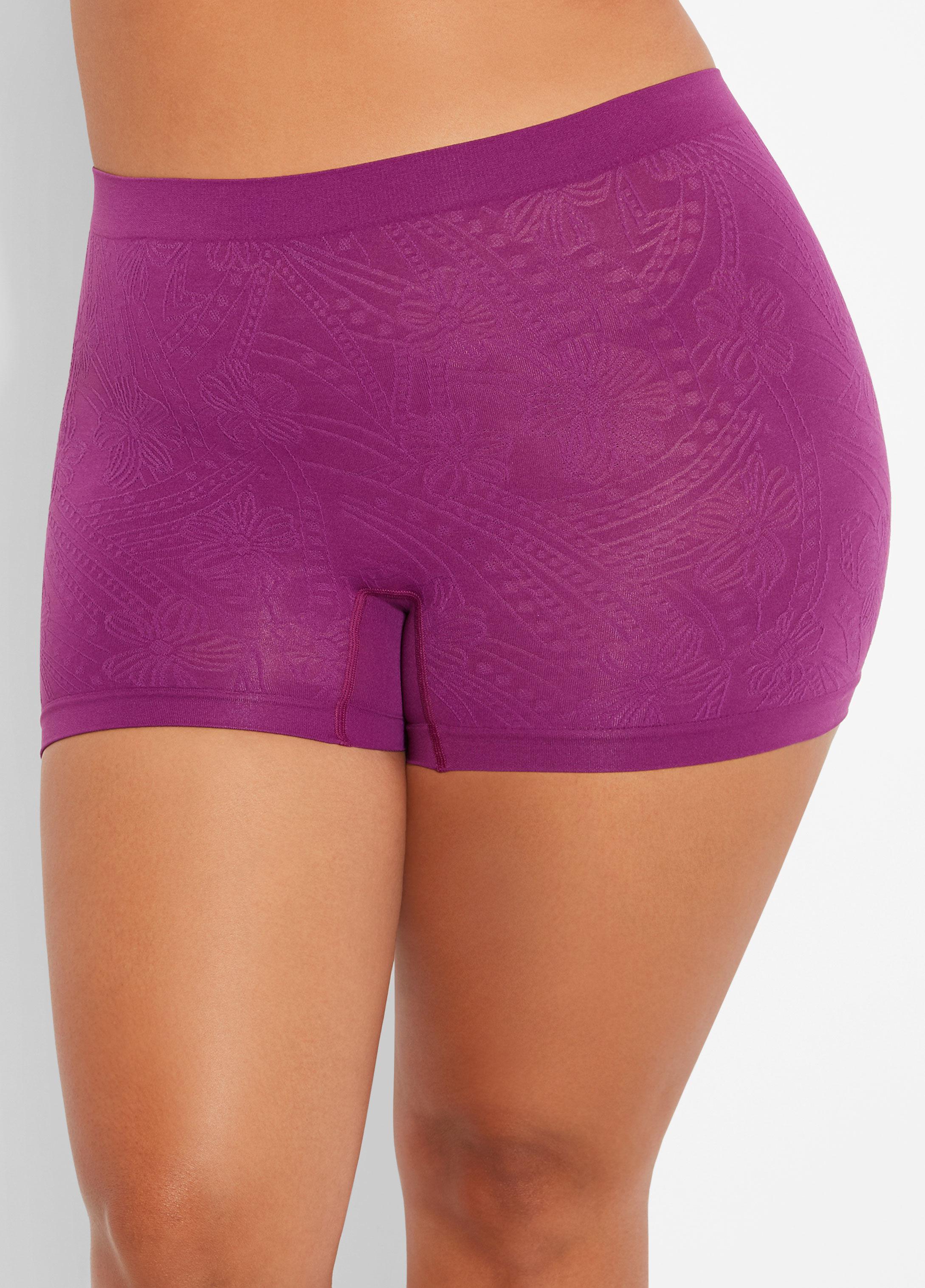 c6faa252bce Lyst - Ashley Stewart Plus Size Seamless Jacquard Boyshort Panty in ...