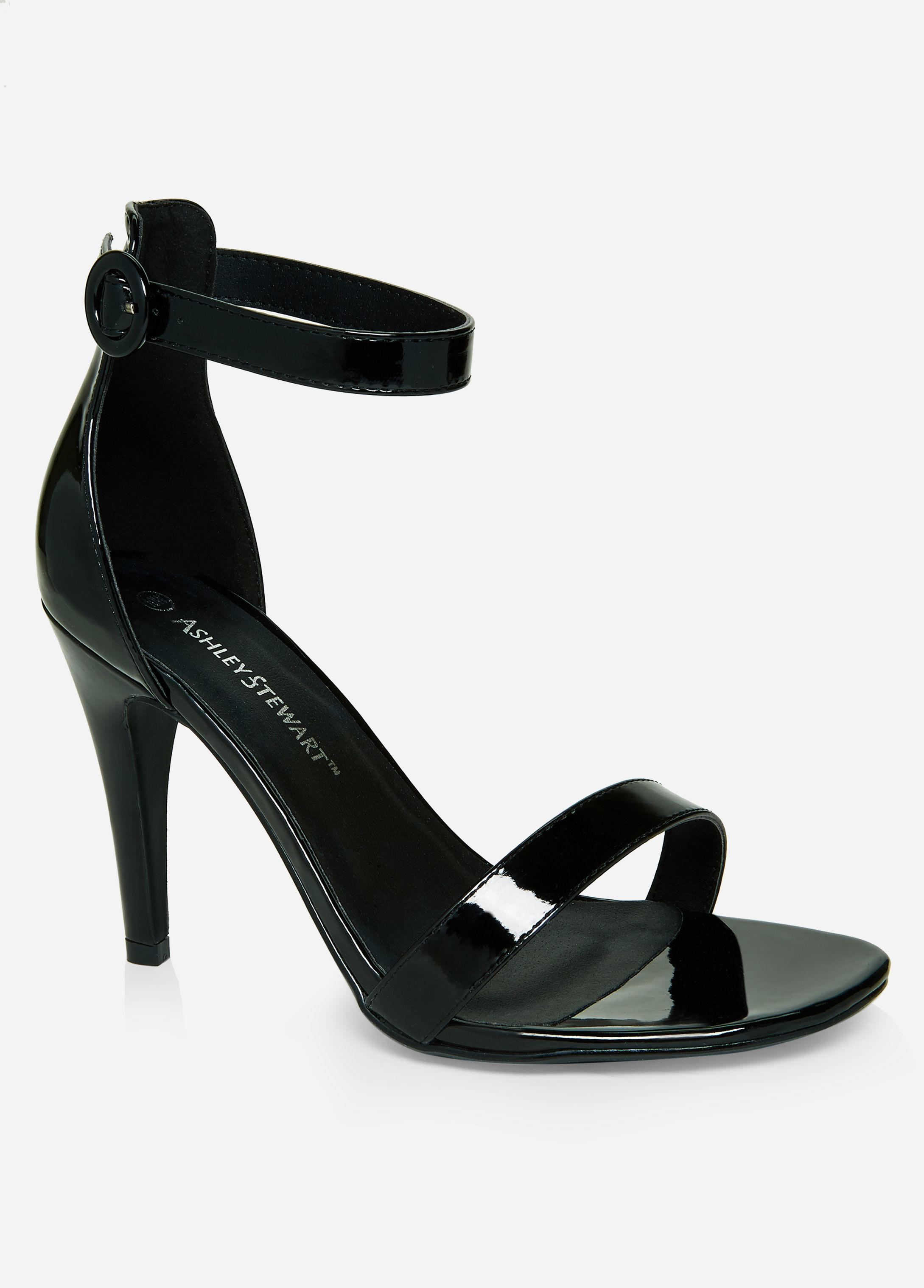 a851f1e192f Lyst - Ashley Stewart Plus Size Strappy Open Toe Heeled Sandal in Black