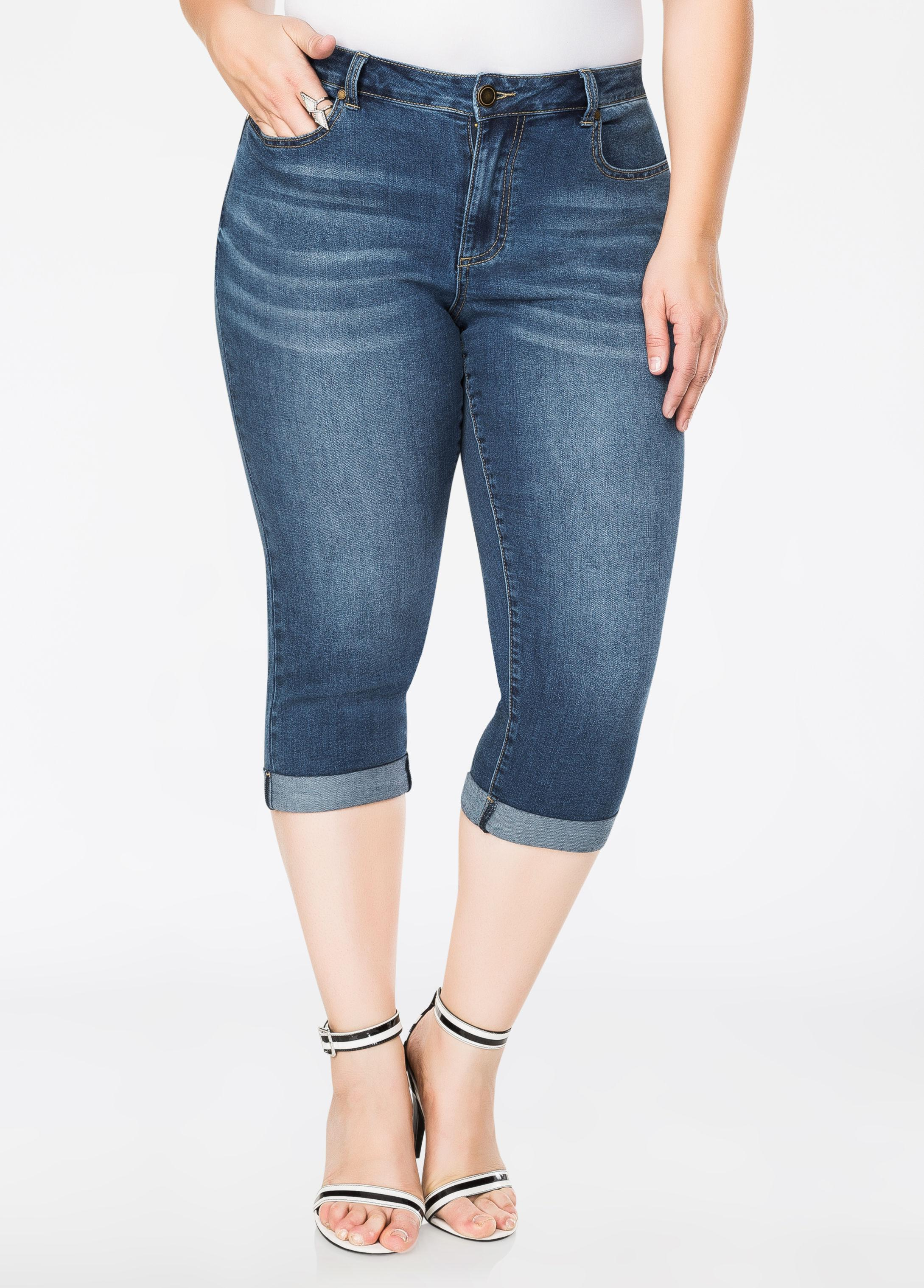 8dd8f11feba Gallery. Previously sold at  Ashley Stewart · Women s Dark Pink Jeans ...