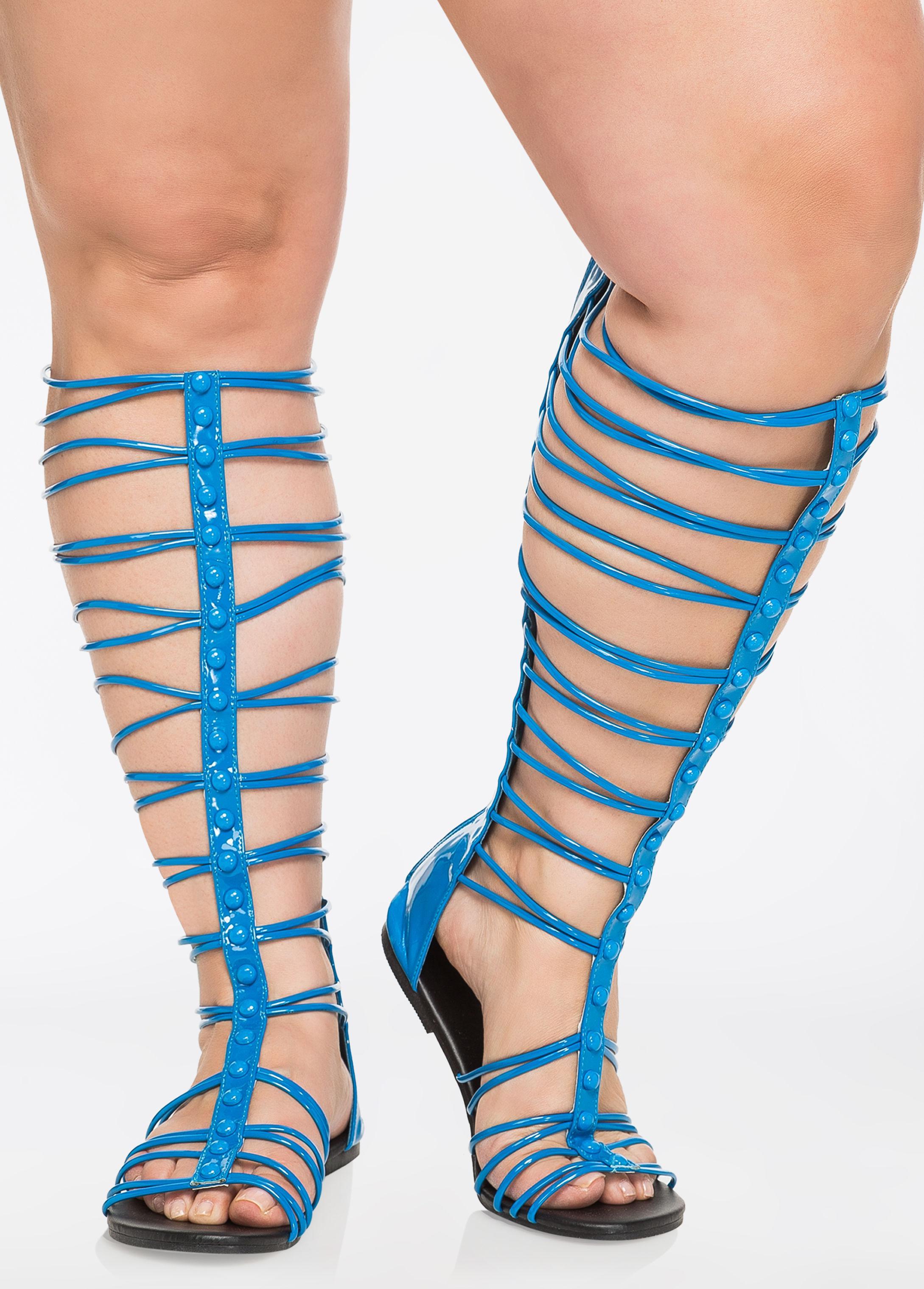 99e56cb558e2 Lyst - Ashley Stewart Ballistic Gladiator Sandals - Wide Width in Blue