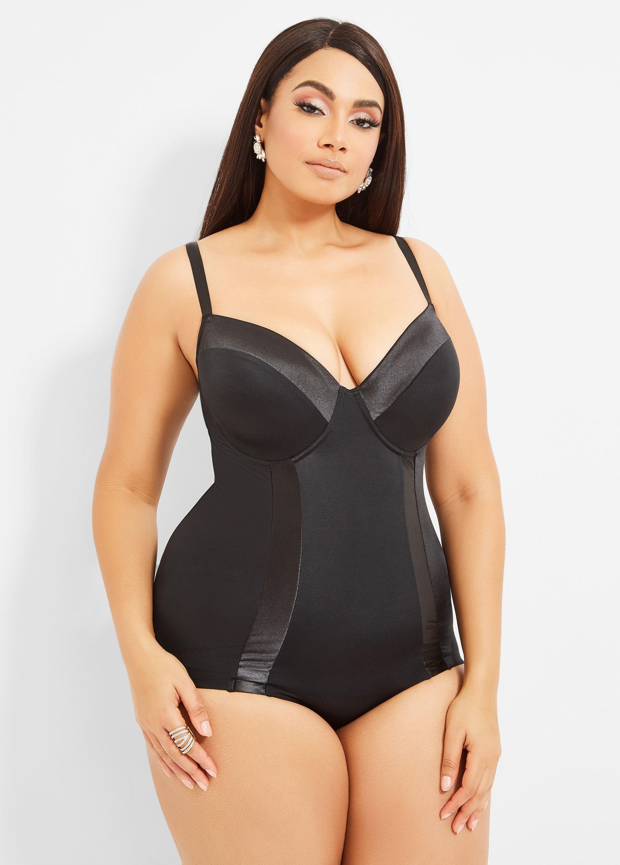 73bedbe058 Lyst - Ashley Stewart Plus Size Ultra Smoothing Shapewear Bodysuit ...