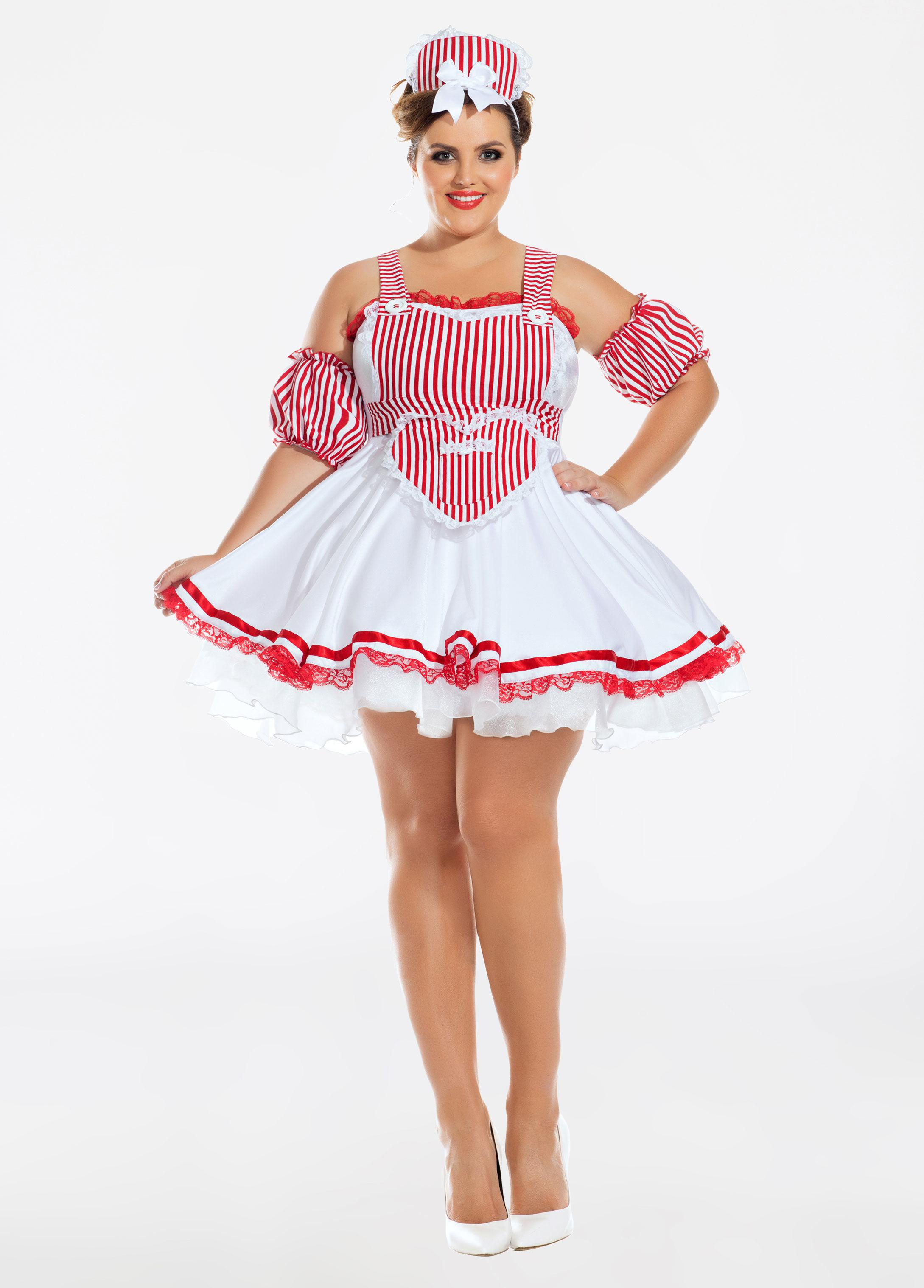 a32b1998552 Ashley Stewart Plus Size Candy Striper Honey Halloween Costume in ...