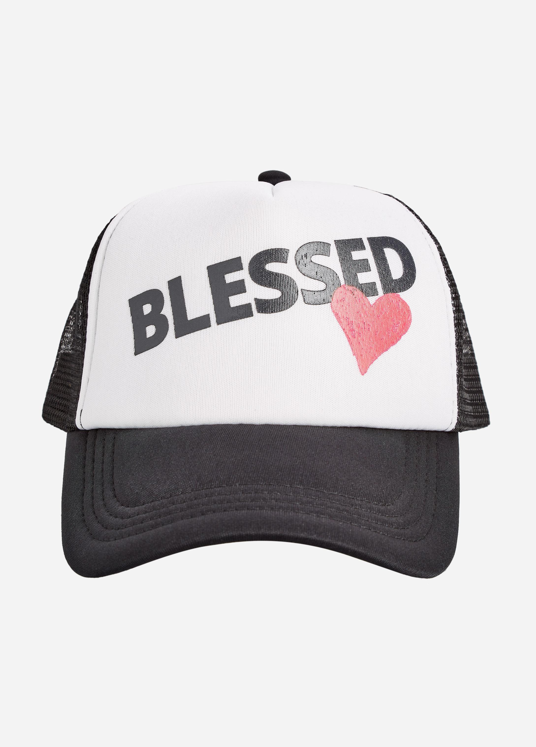 Lyst - Ashley Stewart Blessed Trucker Hat in Black for Men 42e4f54d0f44