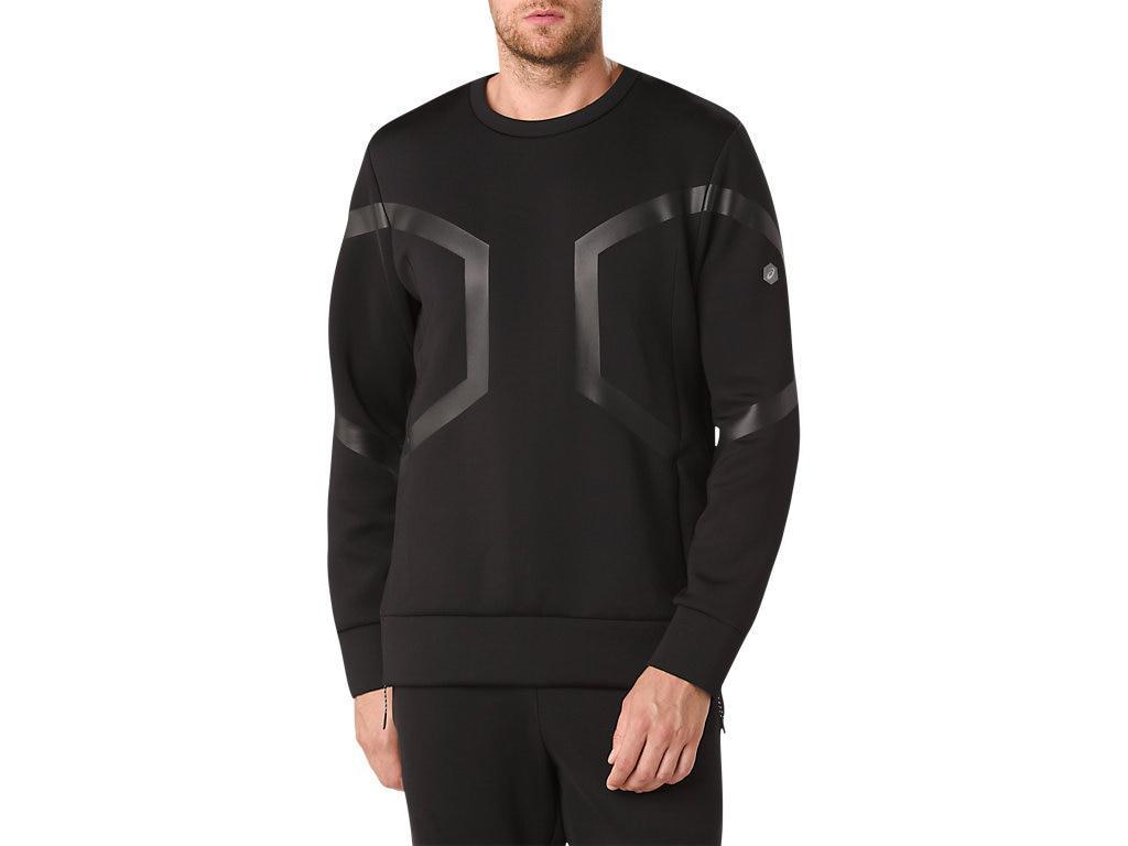 17cae321ce Asics Hexagon Crew Top in Black for Men - Lyst