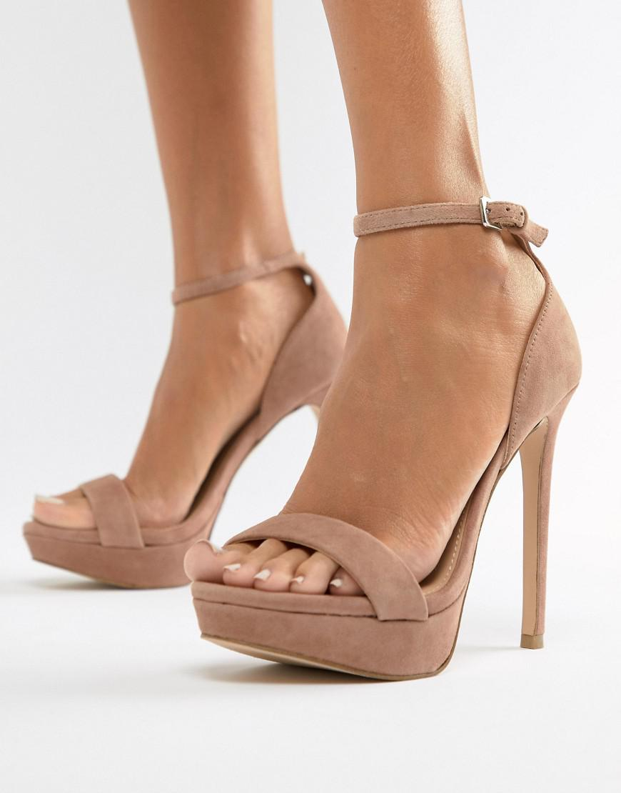 162849a36eb Lyst - Steve Madden Sarah Suede Heeled Sandals In Blush in Pink