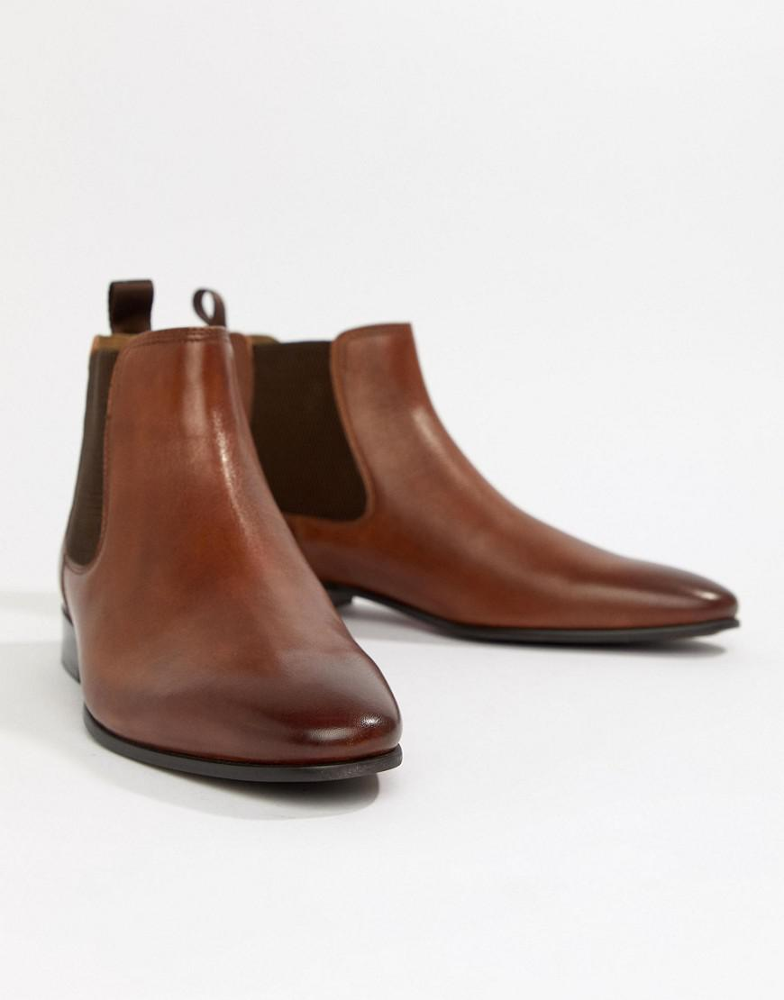 b15ae462ecb84 ALDO Chenadien Chelsea Boots In Tan Leather in Brown for Men - Lyst