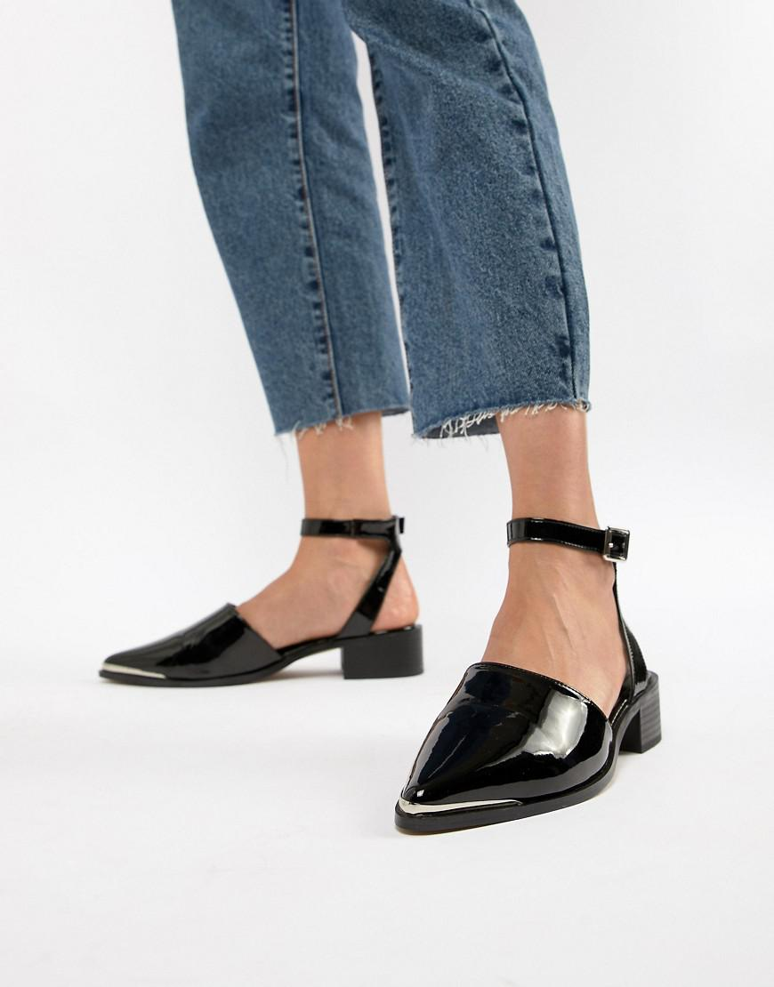 62d022dfe372 Lyst - ASOS Mamba Pointed Flat Shoes in Black